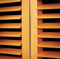 Western Red Cedar shutters. www.openshutters.com.au