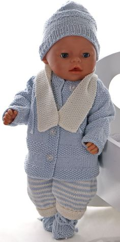 Modele de tricot pour poupee - Tricoter un bel ensemble pour poupon