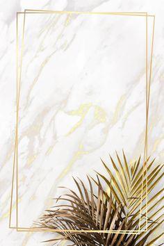 premium illustration of Rectangle golden frame on a marble Rectangle golden frame on a marble background vector