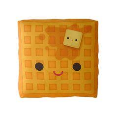 Yummy #Waffle #pillow - again: #cute.