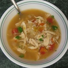 Green Chile Chicken Soup - 17 Day Diet - Day 8