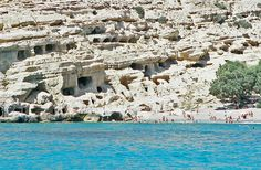 Matala cliffs by Terrence Clifford, via Flickr