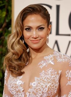 Golden Globes' Glam Gals: Sexy Vintage Hollywood Trend - Jennifer Lopez by Lorenzo Martin  || ModernSalon.com