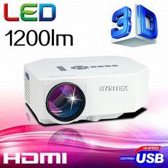 BYINTEK BT300 LED Mini Portable HDMI USB Video pICo LCD 1080P 3D hd Home Theater Projector fUlL hd Proyector Projetor