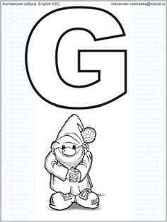 7 Best English ABC. Printable letters with drawings