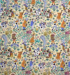 Vintage Alice In Wonderland Fabric Http Www Handmadeandvintage Co Uk