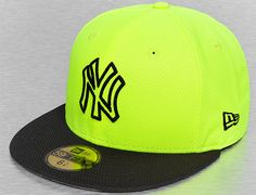 Custom New York Yankees Diamond Era Basic Volt-Black 59Fifty Fitted  Baseball Cap by NEW 3261cfd4827
