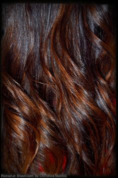 Chocolate and caramel ombre hair