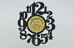 Vinyl Record Clock artist is Disneyland Babes in by vinylclockwork, $23.00