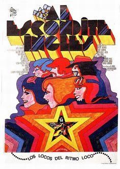 Cartel de «1, 2, 3, al escondite inglés» (1969, Iván Zulueta)