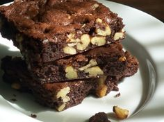 Fudge Nut Brownie Recipe | Cream of Wheat is simply good food for the body & soul! creamofwheat.com #creamofwheat #brownies #chocolate #baking #recipe #chocolate #yummy #desserts #sweets