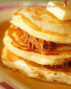 Pulled-Pork Pancakes with special Maple Syrup..just saw this on Diners, Drive ins and Dives and it looks sooooo good..