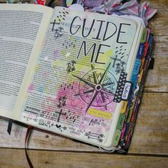 Guide me in your ways oh Lord. Inside cover page? Bible Journaling by Bible Verse Art, Faith Bible, Bible Scriptures, Scripture Study, Bible Quotes, Bible Drawing, Bible Doodling, Bible Study Journal, Art Journaling