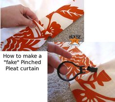 To attach the rings, pinch the section of curtain you want the ring to be attached to, then just clip the ring right onto the pinched fabric. Make sure you set your rings