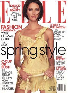 Christy Turlington by Gilles Bensimon - Elle Mag. March 2002