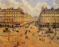 오페라 거리, 아침햇살(Avenue de I'Opera, Morning Sunshine) - 카미유 피사로(Camille Pissarro)