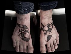 pinguin horse tattoo dotwork