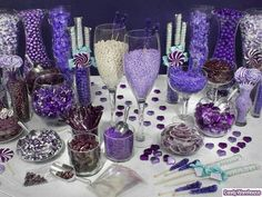 Purple Baby Shower Themes | Purple and White - Candy Warehouse | Baby Shower ☔ Ideas..