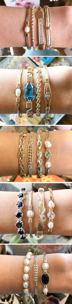 Our sweet stack features gorgeous delicate gold and silver bracelets from Ronaldo Designer Jewelry. Handmade in the USA.