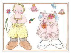 Michel & Co. Paper Doll Cards