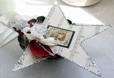 Karton Stern musikheft Blatt-Basteln Deko-Winter festlich-Weihnachten