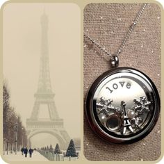 Are you dreaming of Paris?  Say it with your Origami Owl Living Locket.