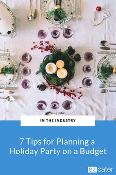 Here are seven tips for planning a holiday party on a budget. So you can impress your colleagues without breaking the bank. Plan A, How To Plan, Lunch On A Budget, Order Food, Office Parties, Signature Cocktail, Yummy Appetizers, Career Advice, Holiday Parties