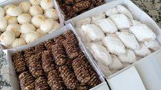 هادي هي لي غتهنيك فطلبيات العيد💪حلوة البيض المسلوق👌3أشكال بعجين واحد👌ب25... Almond, Muffins, Cookies, Food, Petit Fours, Crack Crackers, Muffin, Biscuits, Essen