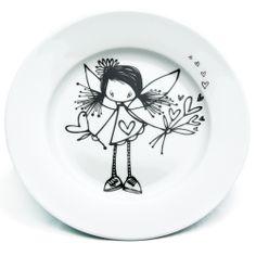 Ketto - Assiette Fée - Porcelaine à peindre