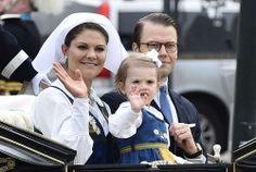 The Swedish Royal Family on their way to Skansen.