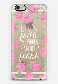 Let your Faith be Bigger than your Fears iPhone 6 case by The Olive Tree | Casetify