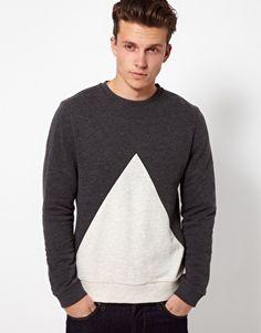 Vergrößern ASOS – Sweatshirt mit dreieckigem Einsatz