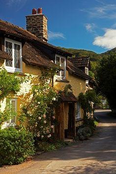 Rose cottage in the sleepy Exmoor village of Bossington.