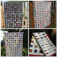 Blue Bird Sews: Shrinking Squares Scrap Quilt Tutorial