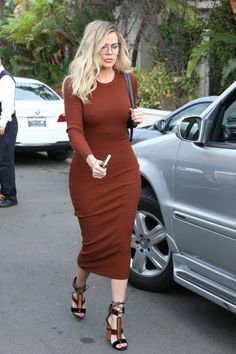 Khloe Kardashian wearing Tom Ford Harriet Patchwork Sandal, Chanel Chesterfield Flap Bag and Grey Ant Mesh Glasses