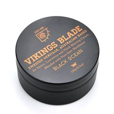 VIKINGS BLADE Black Ocean Luxury Shaving Cream Traditional Swedish Heritage 100 Pure Raw Manliness 53 oz *** Visit the image link more details.