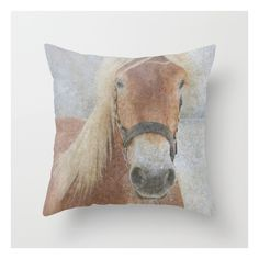 Winter Horse - Justart © Throw Pillow ($20) ❤ liked on Polyvore featuring home, home decor, throw pillows, winter throw pillows, horse throw pillows, horse home decor and animal throw pillows
