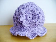 FREE SHIPPING 3/6  Crocheted Lilac Cotton Summer Hat by ACCrochet, $21.50