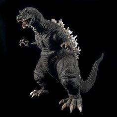 X-Plus / Plex Godzilla 2001 Vinyl Figure on Black. Godzilla Toys, Japanese Monster, King Kong, Gojira, Vinyl Figures, Dragon's Lair, Dinosaurs, Statues, Monsters