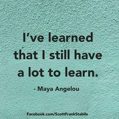 A lot to learn