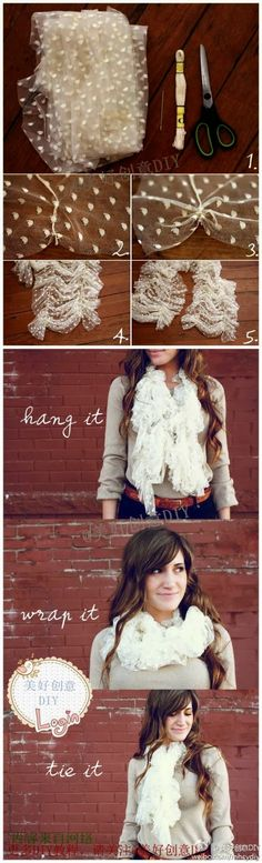 Easy DIY Crafts: DIY scarf !