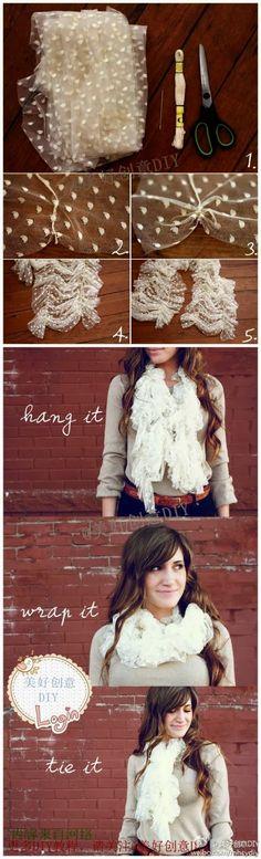 DIY scarf !