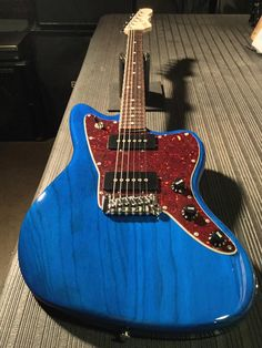 G&L Musical Instruments Here's a Doheny in Clear Blue over swamp ash, tortoise guard, rosewood board, Clear Satin neck finish G&l Guitars, Custom Guitars, Dj Equipment, Getting To Know You, Playing Guitar, Musical Instruments, Tortoise, Ash, Musicals