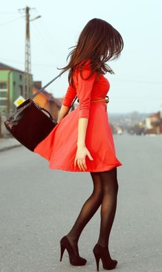 i really want a red dress.