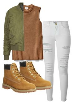 """""""Style: 012"""" by stefanieb05 on Polyvore featuring Frame Denim, Timberland, Wilfred and Topshop"""