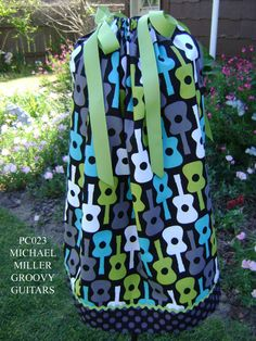 Michael Miller Groovy Guitars Boutique by GiraffesJellybeans, $21.99