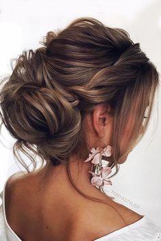 elegant wedding hairstyles updo twisted with bun tonyastylist - Flechtfrisuren Wedding Hairstyles For Medium Hair, Unique Wedding Hairstyles, Bride Hairstyles, Evening Hairstyles, Fast Hairstyles, Simple Hairstyles, Beautiful Hairstyles, Hairstyle Ideas, Hairstyle Wedding