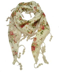 4 Colors Spring and Autumn Fashion Scarves For Women 2014 Flower Print Monolayer Scarf With Tassel Trim SF234 Free Shipping-in Scarves from Apparel & Accessories on Aliexpress.com   Alibaba Group