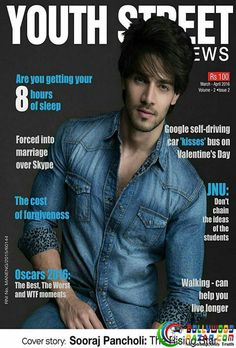 SOORAJ PANCHOLI ON THE COVER OF YOUTH STREET  #YOUTHSTREET #SOORAJPANCHOLI