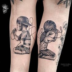 Engraved circus tattoo parlour — Tin can phone tattoo. Taken from a beautiful. Twin Tattoos, Mommy Tattoos, Family Tattoos, Sister Tattoos, Friend Tattoos, Body Art Tattoos, Sleeve Tattoos, Tattoos For Guys, Tattoos For Women